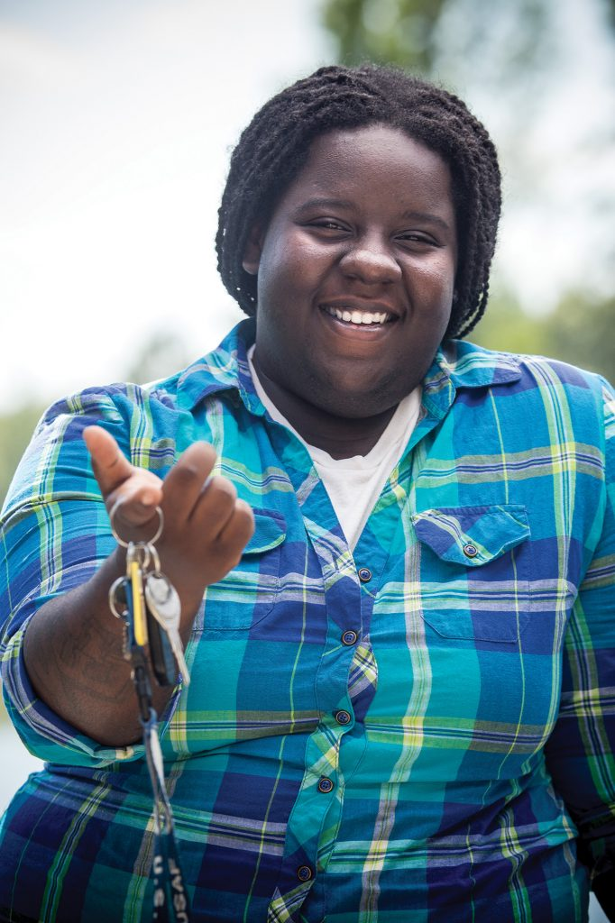 Dee has learned to pay bills on time and to take care of herself. She's one of six who have purchased cars, debt-free, with the help of Second Chance Youth Ranch. Photography by Janet Warlick.