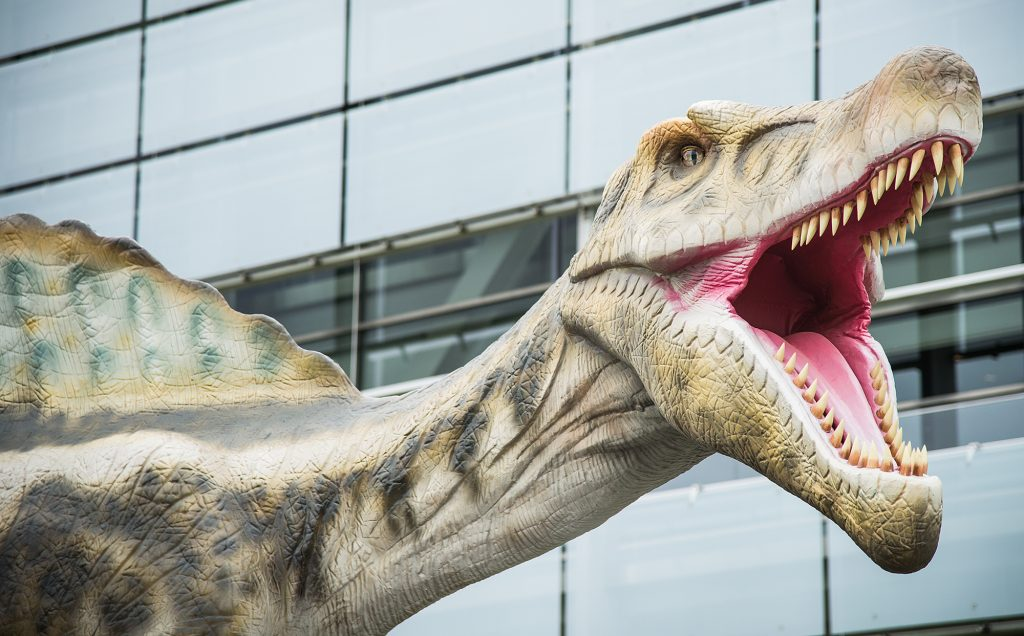 """Clinton Presidential Center's current exhibit, """"Dinosaurs Around the World."""""""