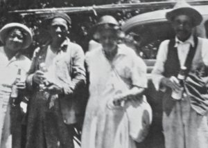 "Harriet's granddaughter and grandson, Mary Perkins and Sidney Moore, and their mother Massoline ""Mass"" Moore and her husband, Henry Moore. Mass Moore was Harriet's daughter."
