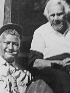 "Harriet's grandson Chaney and his mother,  ""Mass"" Moore, Harriet's daughter."