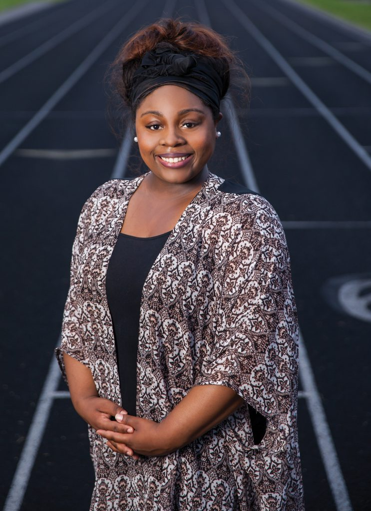 Markeyah Wilson, a cancer survivor and coordinator for UALR's 2015 CAC event .