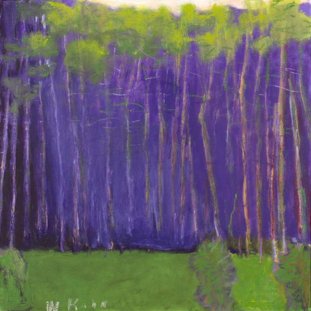 """Wolf Kahn, """"Tall and Slender"""" (2011) oil on canvas, 28 x 28 inches"""
