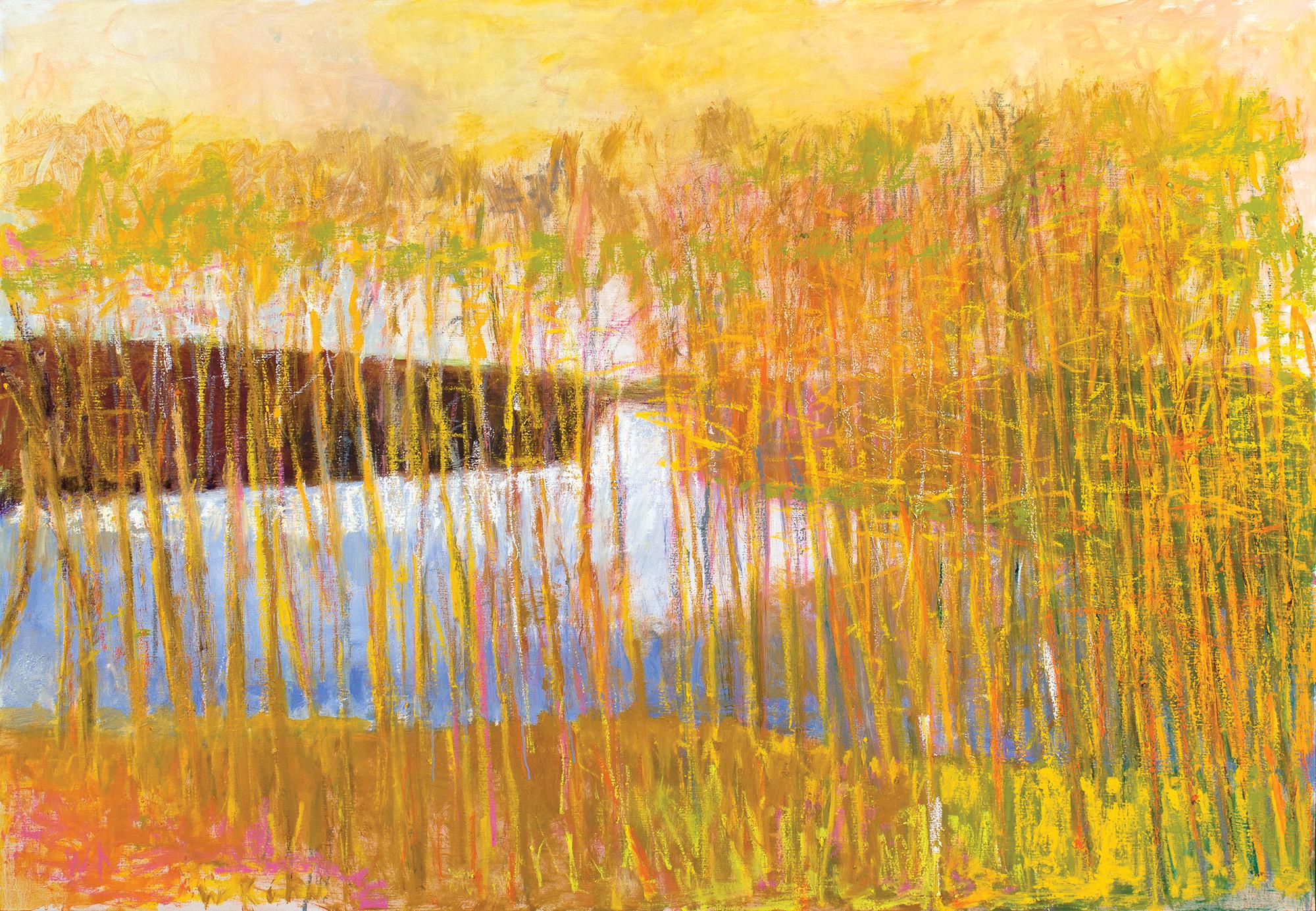 "Wolf Kahn, ""White Center"" (2014) oil on canvas, 36 x 52 inches"
