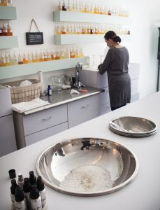 Bathe owner Judy Zimmer was on hand to give us hand scrubs and talk about the science of scent.