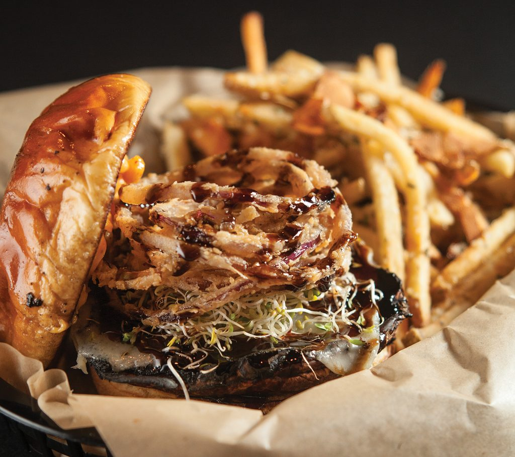 The portobello burger from Levi's Gastrolounge & Lowbar … you won't need a take-home box.