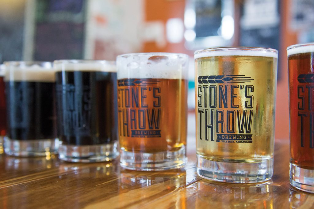 Beer flight at Stone's Throw, Little Rock / Photo by Janet Warlick