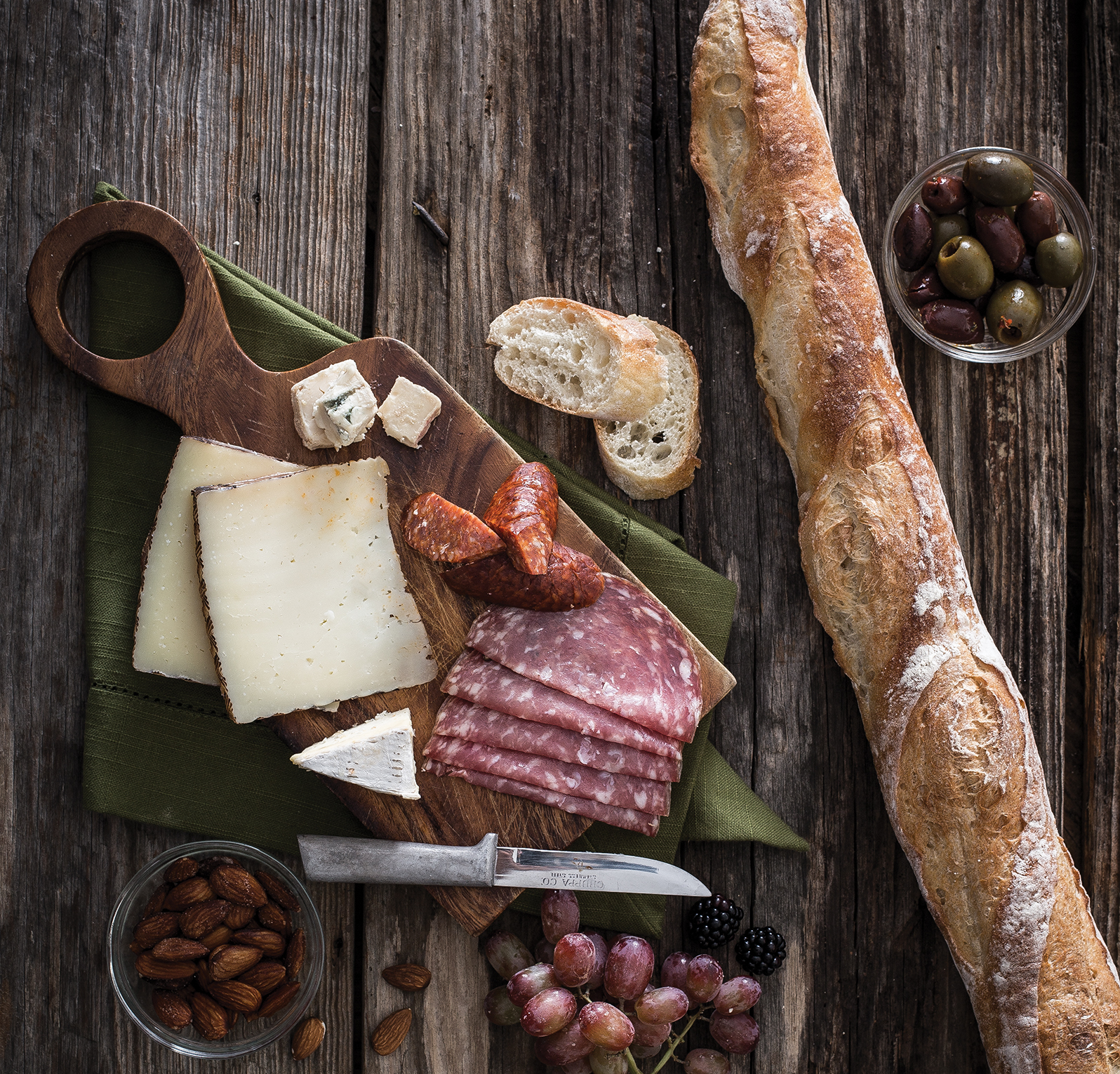 Charcuterie board provided by Boulevard Bread Co.