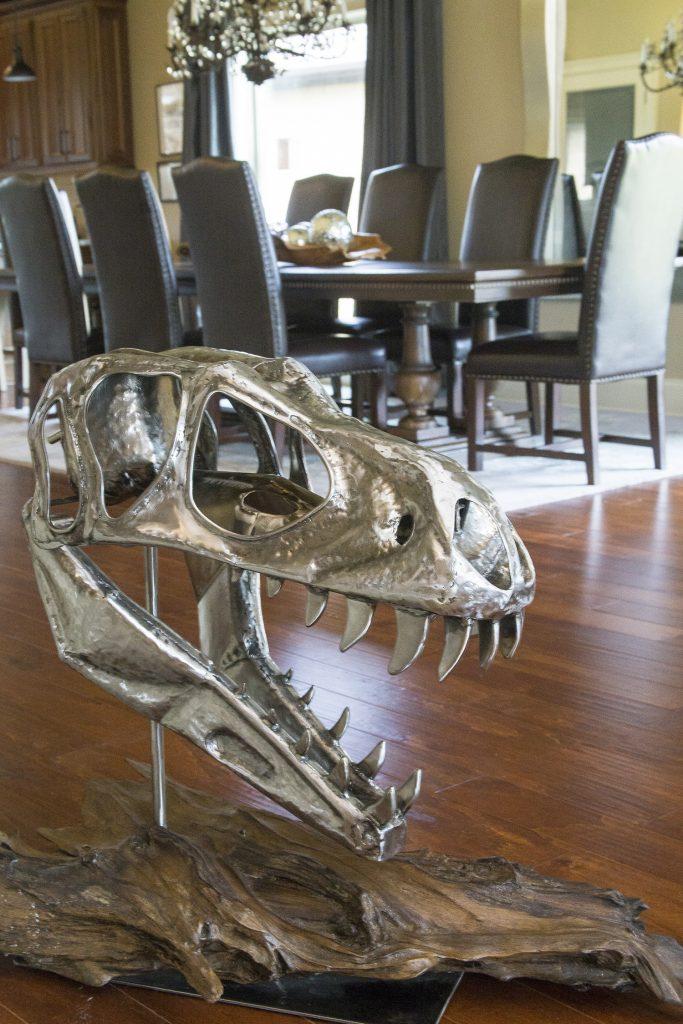 T. rex sculpture by Jeremy Ross