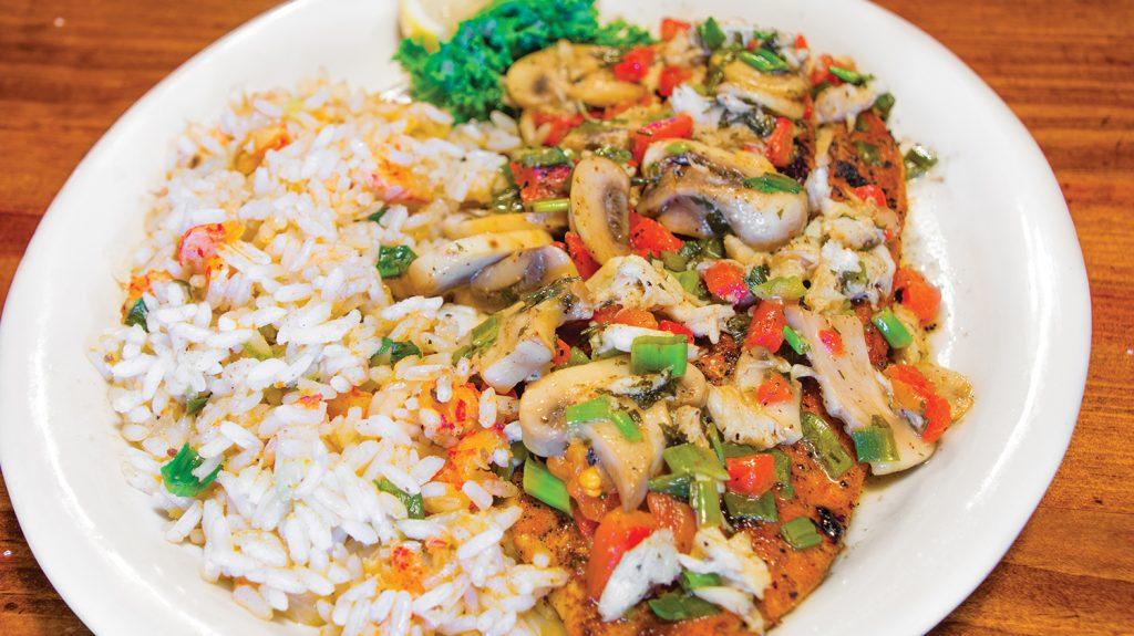 Grilled Redfish Pontchartrain