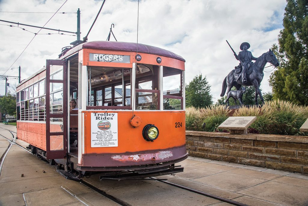 One of the city's original renovated trolleys.