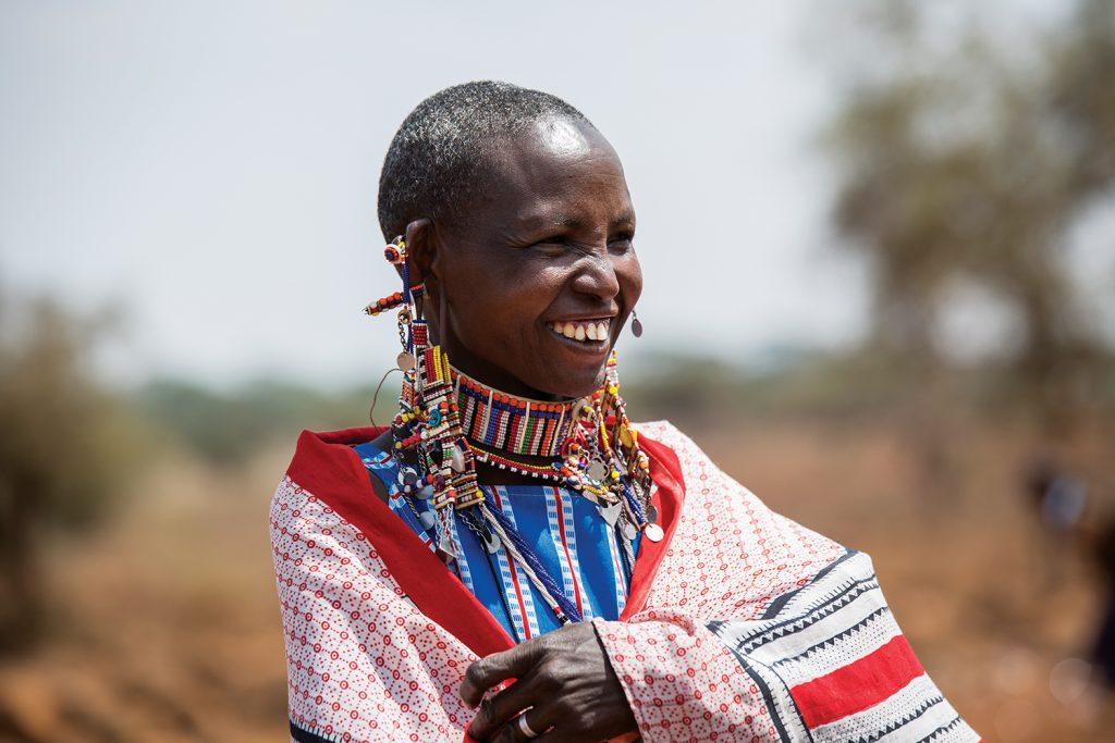 One of the many beautiful Maasai women Mooney met while in Kenya. // photo by Niki Mangan