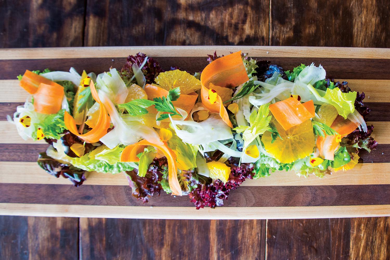 Heirloom's mixed orange salad