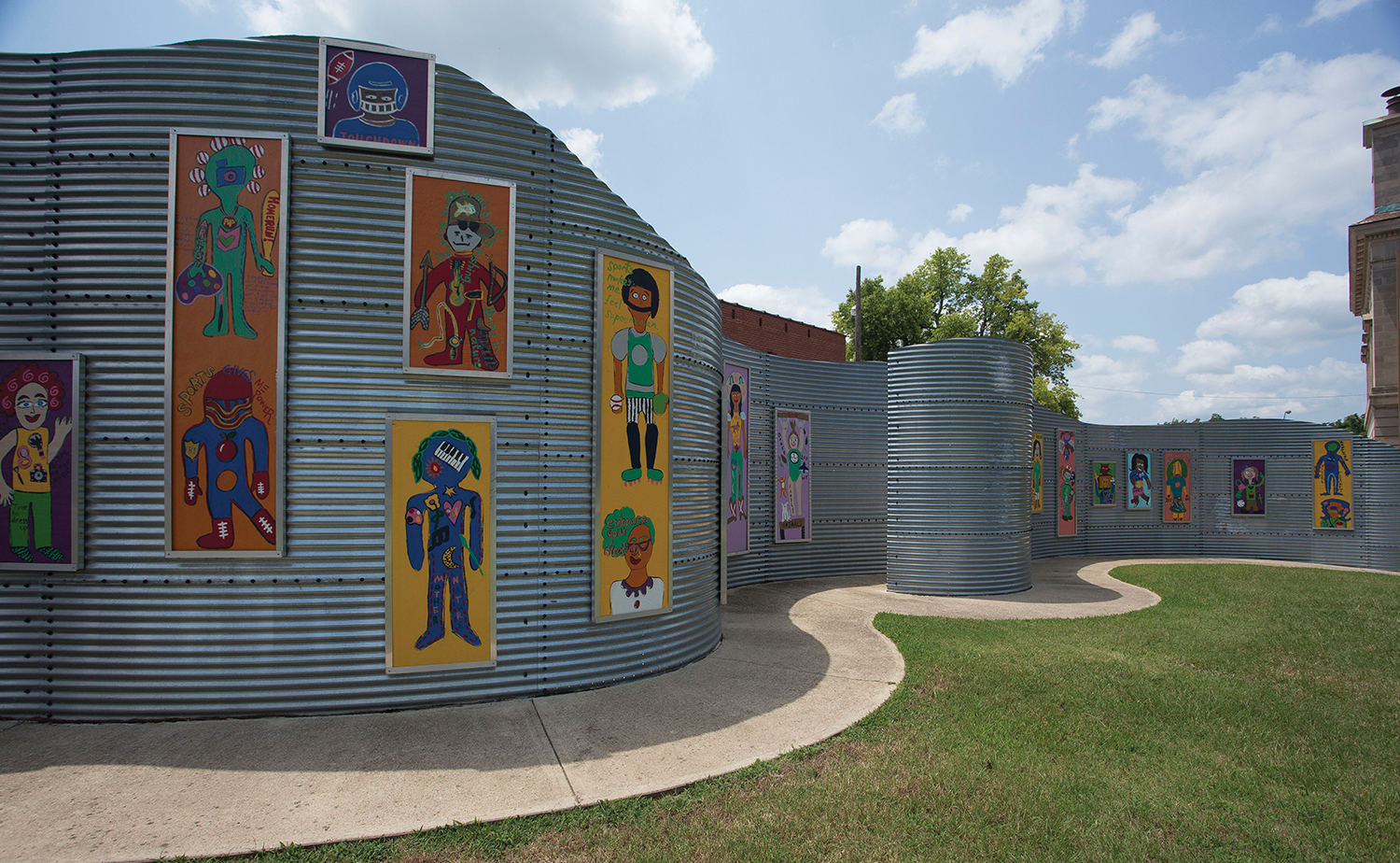 the ArtWall, the ArtSparK outdoor exhibit