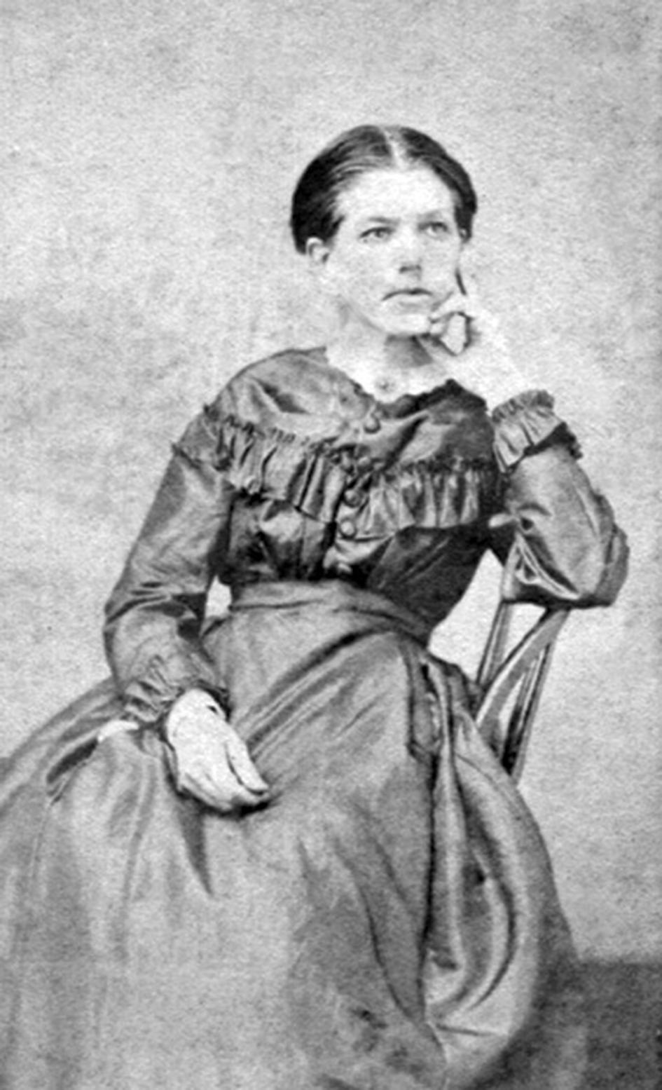 """Calvin Bliss' wife Caroline """"Carrie"""" Bliss (1824-1881)."""