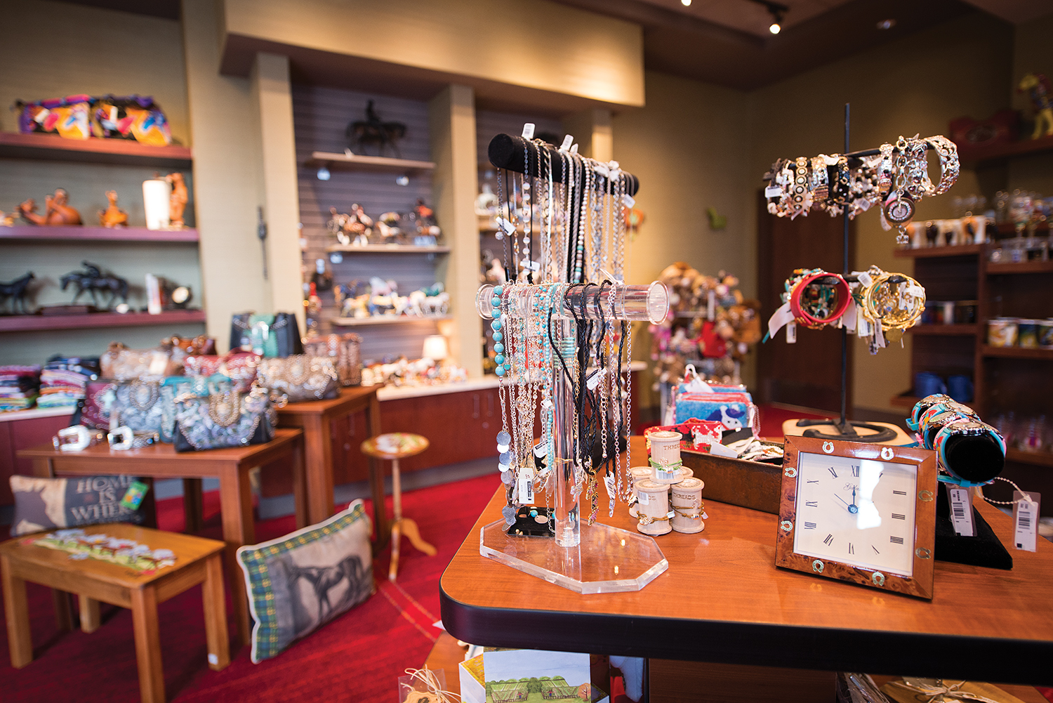 The Winning Court Gift Shop carries a wide variety of gift items, many of which are equine inspired.