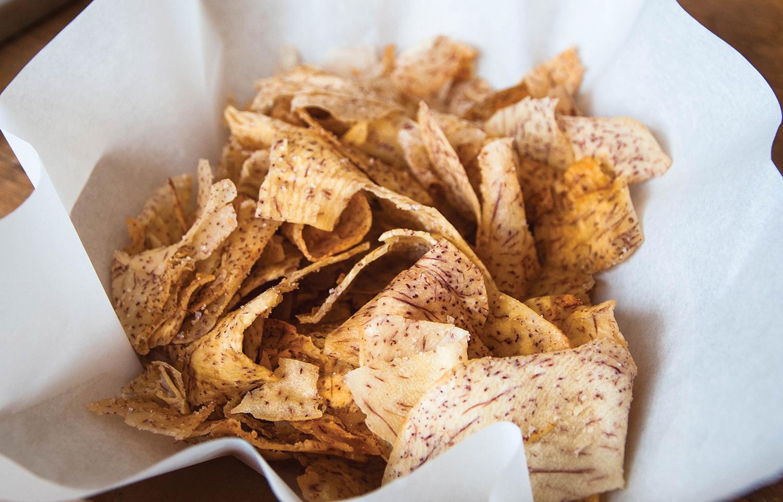Three Fold's tarro chips