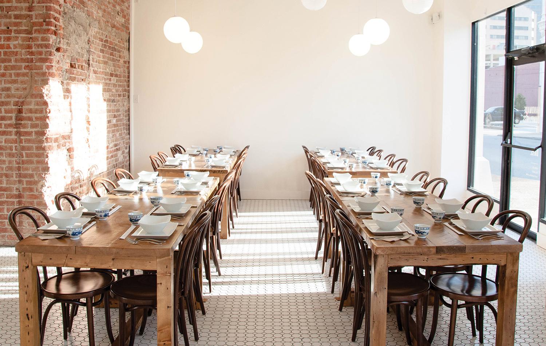 Three Fold's dining room