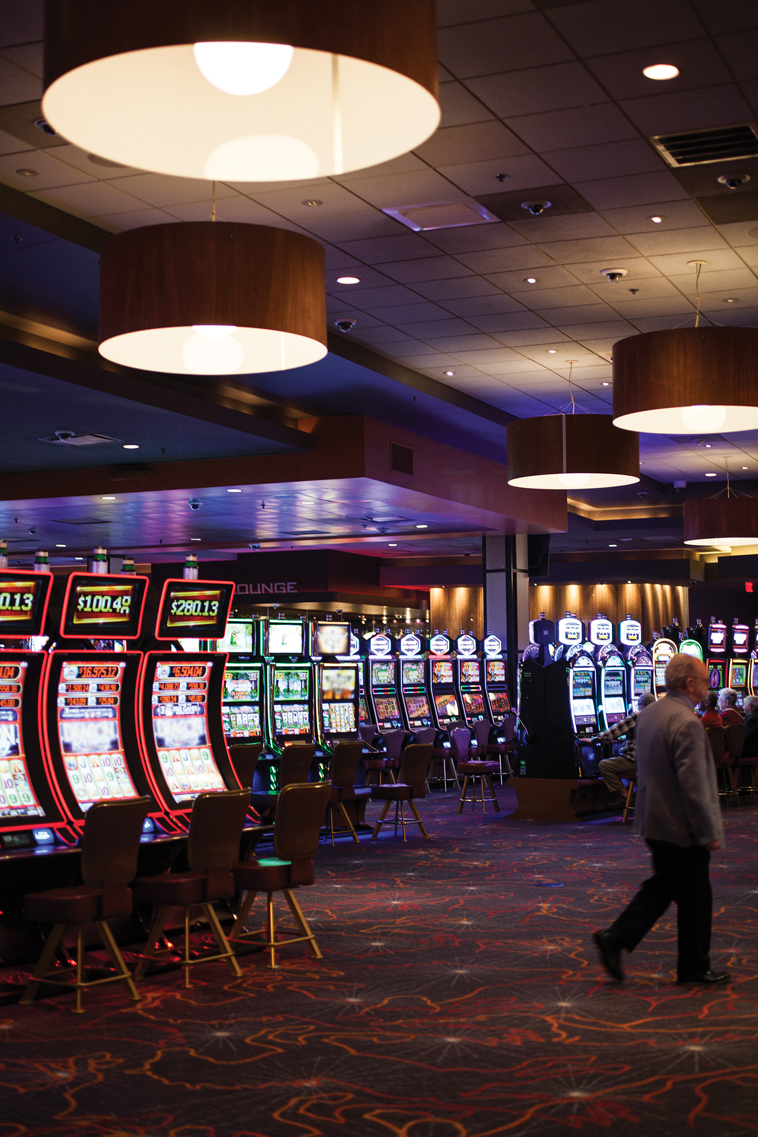 The recently expanded and updated gaming room at Oaklawn.