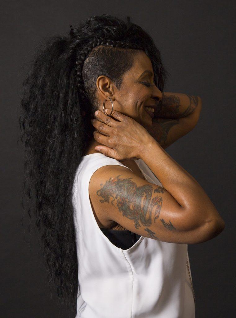 B.J. Gilmore's dragon tattoo symbolzing Kundalini