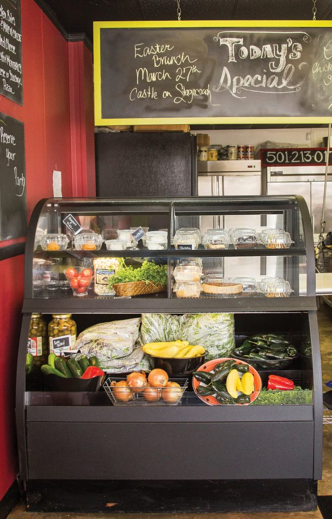 the display case at Bistro Catering & Gourmet Take Away