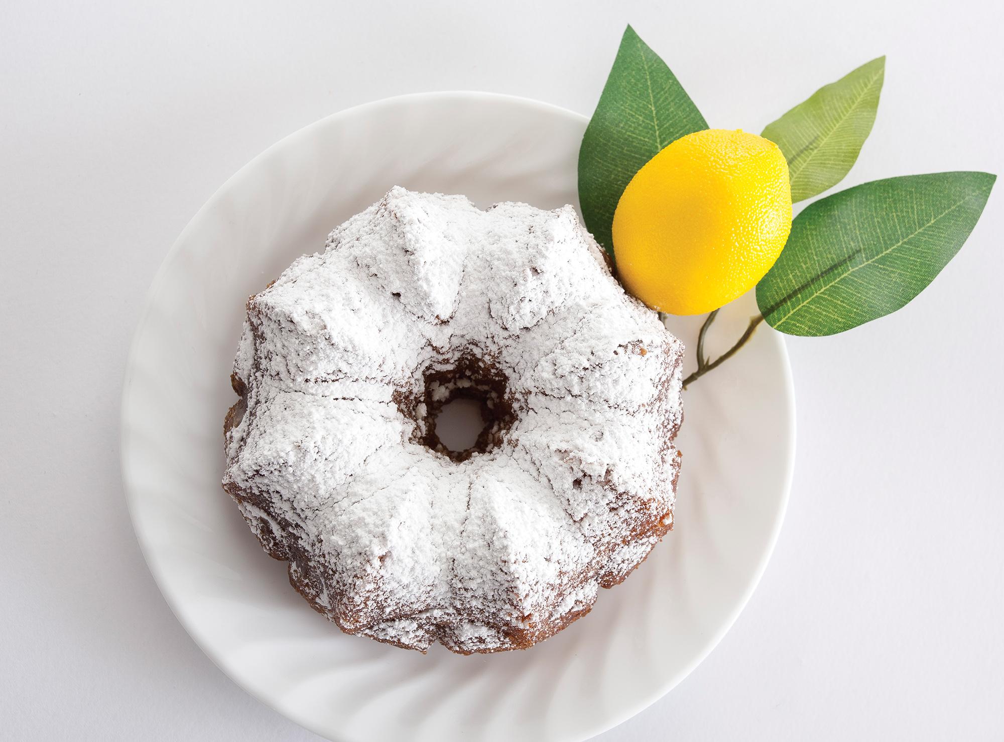 a lemon Bundt cake from The Lemon Cakery