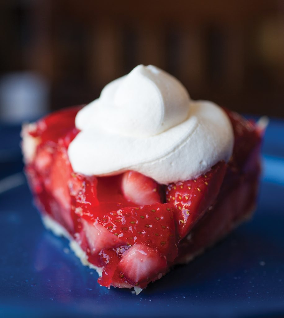 strawberry pie from Cross Creek Sandwich Shop