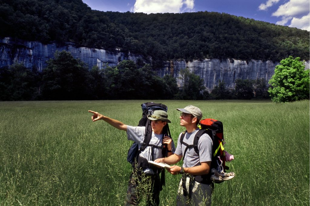 Hiking & wildlife watching in the Buffalo National River Wilderness Area.