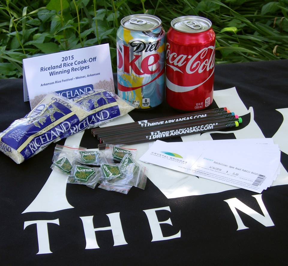 The Bentonville Welcome Center is giving away Arkansas made items & refreshments during National Travel & Tourism Week.