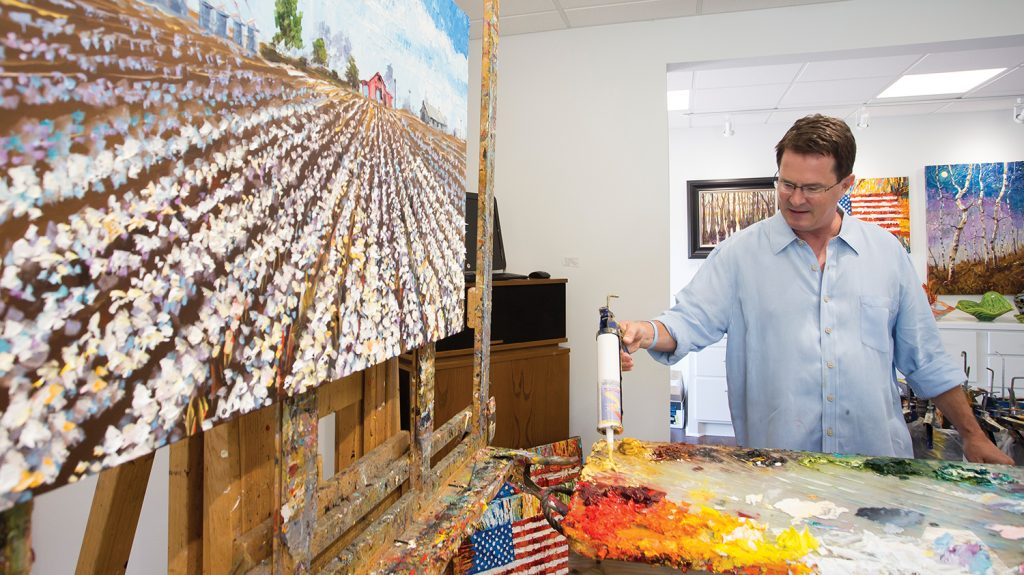 Matthews Fine Art Gallery will serve as studio space for both artists. Matthews is working on commissioned pieces.