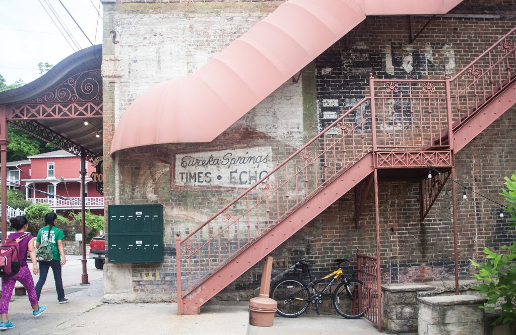 Observant visitors can see echoes of the past in, and on, the buildings all over town.