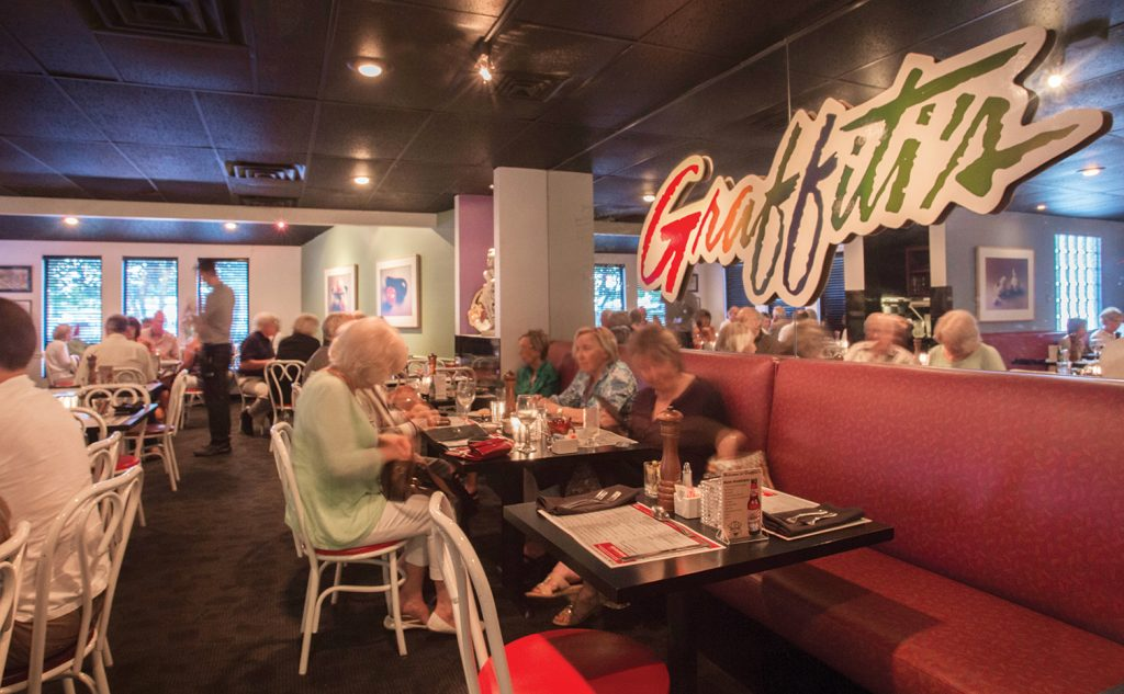 Graffiti's interior is a comfortable, intimate space — a perfect complement to its delicious Italian cuisine.
