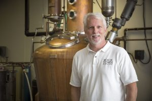 Phil Brandon, owner of Rock Town Distillery, photo by Janet Warlick