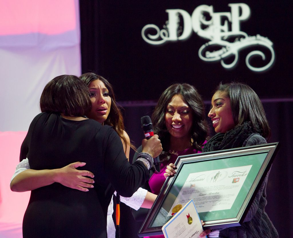 """R&B singer Tamar Braxton was overcome with emotion this April when she received her certificate and later talked about it on the talk show """"The Real."""""""