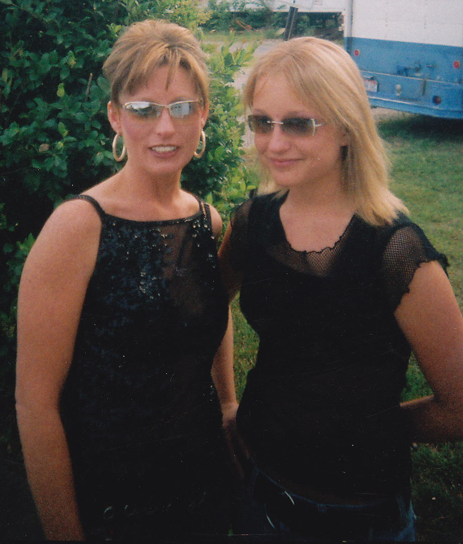 Danick Adams (right) with her mother, Amy Stivers