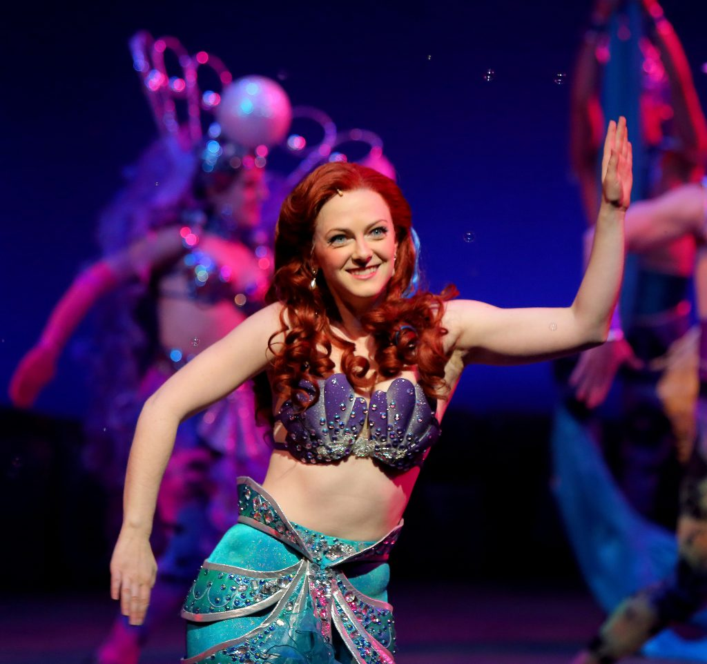 """Katie Emerson as Ariel in The Rep's 2015-16 production of """"The Little Mermaid"""""""