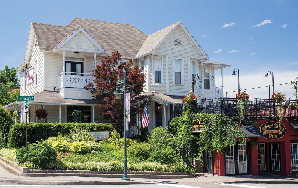 With its porches, patios and comfy rooms, the Dickson Street Inn provides more than just an outstanding location for its guests.