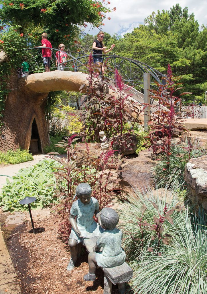 The Children's Garden at the Botanical Garden of the Ozarks is a favorite destination for kids of all ages.