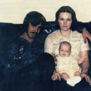 Gary Lynn Mullinax, Pat Reagan and their daughter Amy. Gary disappeared when Amy was barely three months old.
