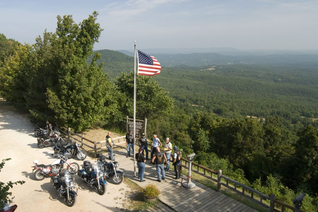 The Ride the Ozarks Rally in Harrison, Arkansas / Photo courtesy of The Ride the Ozarks Rally