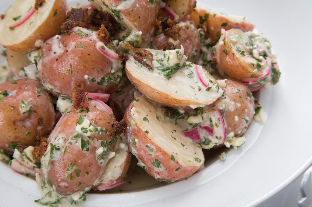 Grilled Blue Cheese and Bacon Potato Salad