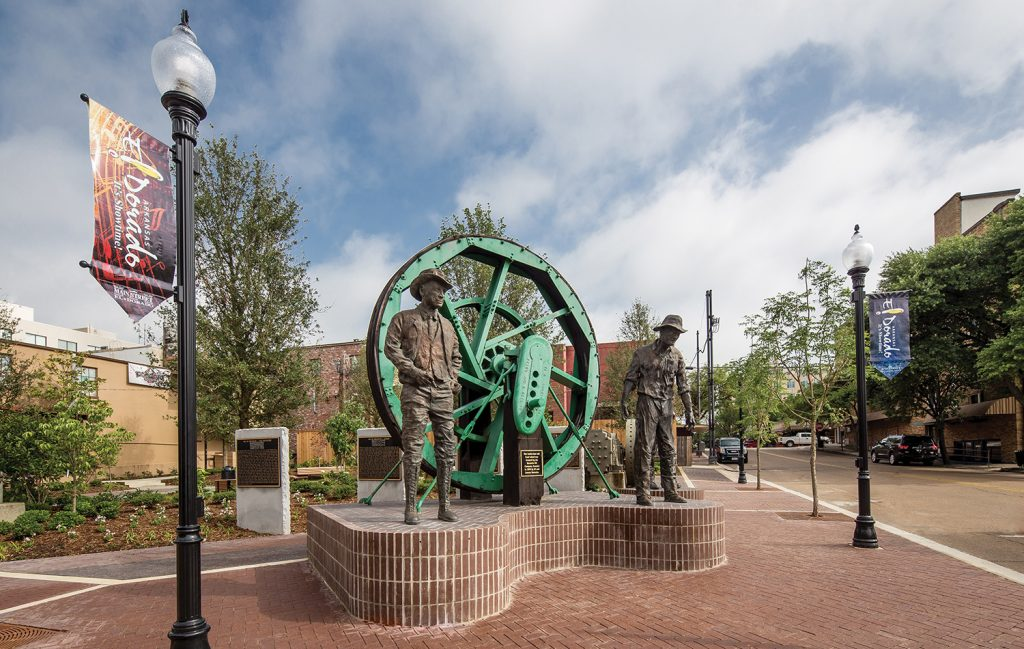 Oil Heritage Park is just the beginning to the Arts and Entertainment District that is transforming and repurposing a group of historic downtown structures.