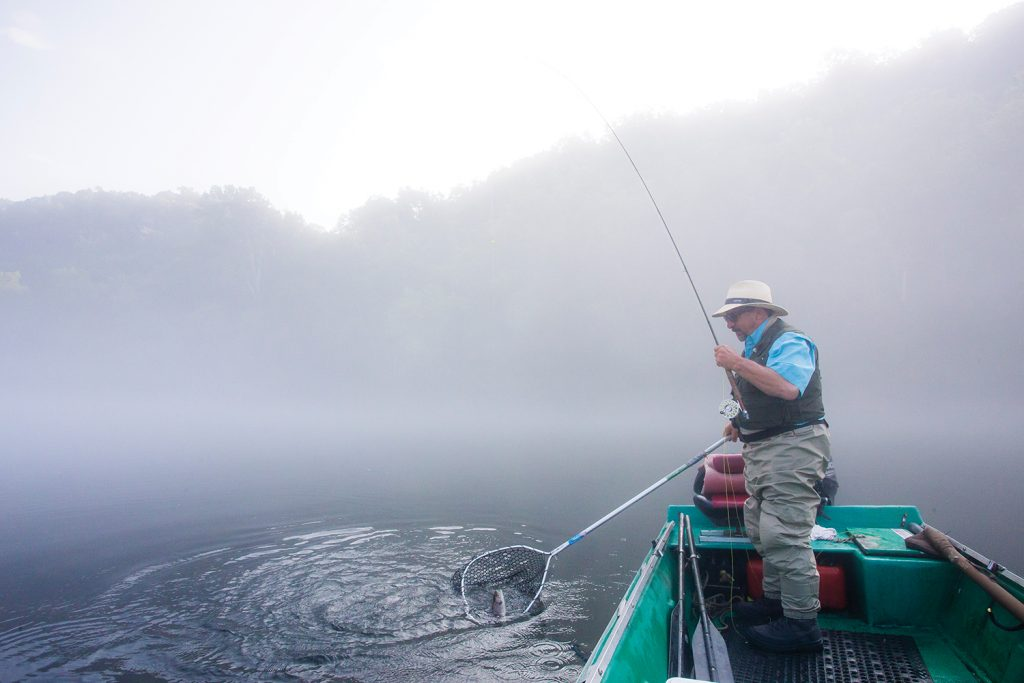 Fishing guide Frank Saksa has spent more than thirty years mastering the White River.