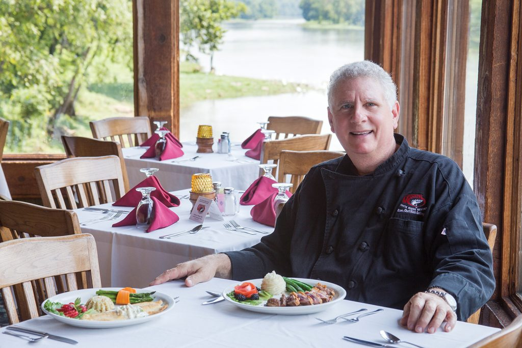 Restaurant Manager and Executive Chef Rick Gollinger creates delicacies from trout caught on location to duck.