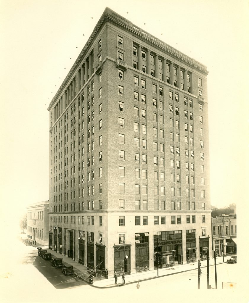 The Donaghey Building at the northeast corner of 7th and Main streets in Little Rock; circa 1925.