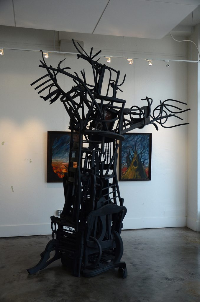 Chair Tree Sculpture by Sandra Sell
