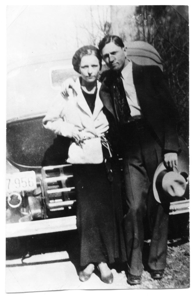 Bonnie and Clyde traveled the country with their gang during the Great Depression, robbing people and killing when cornered or confronted.