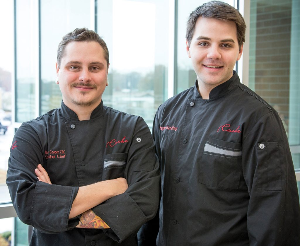 Executive chef and general manager Matthew Cooper (left) and chef Payne Harding.