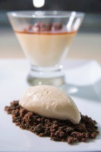 Caramel ice cream with brownie crumble and the classic caramel panna cotta are just a sampling of the sweets Cache will offer.