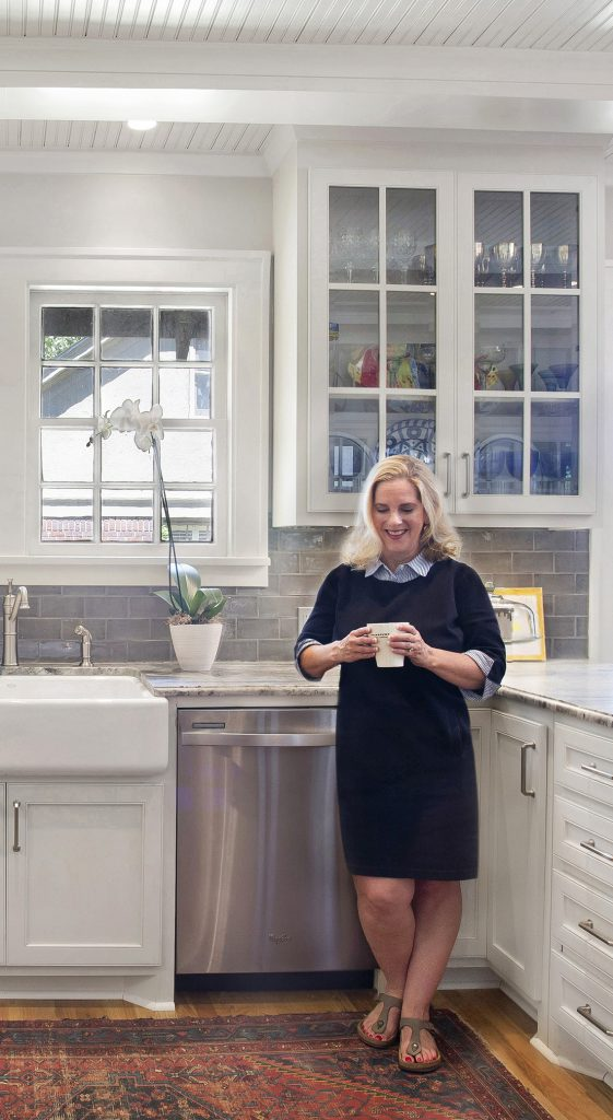 Rejuventation station: A very happy renovator, Allison is pleased with the results. As with any creative person, ideas continue to update the kitchen.