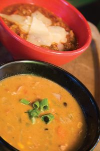 Yolanda Hughes of RSVP Catering suggests a variety of soups for an easy and enjoyable gathering for the host and guests.